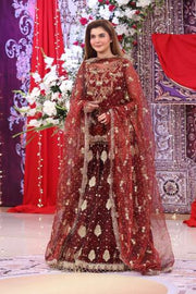 NIDA YASIR BRIDAL SUIT _ Replica _ Unstitched,