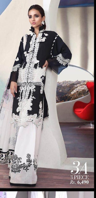 Sana Safinaz Lawn Collection With Lawn Dupatta Printed Lawn Front - Replica - Unstitched
