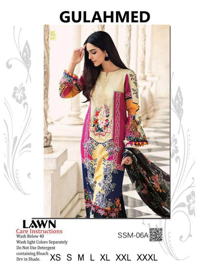 Gul Ahmed Most Demanding Design Available In Lawn - Replica - Unstitched