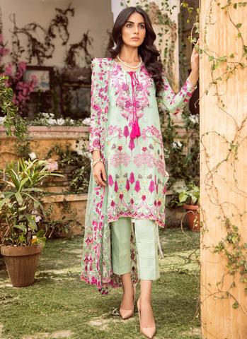 Mina Hasan Chiffon Collection 2018 2019 (Replica) (Unstitched)