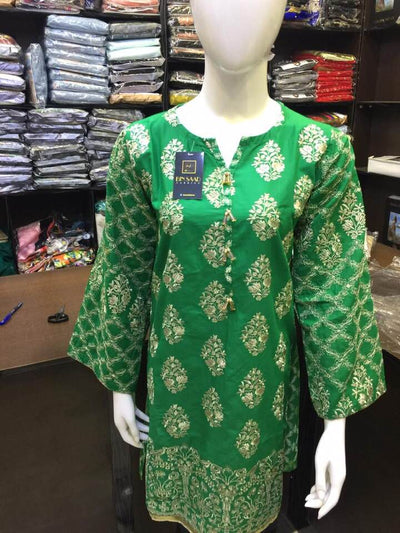 Sana Safinaz Collection Embroidery Shirt - Replica - Unstitched