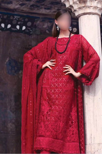 Gul Ahmed Collection Fabric Lawn Dupatta Chiffon - Replica - Unstitched