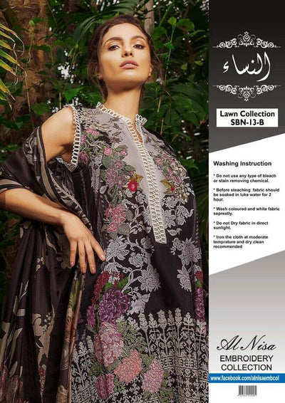 Sobia Nazir New Collection Lawn With Chiffon Dupatta - Replica - Unstitched