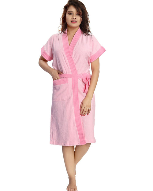 Buy Ladies Bathrobe Soft Cotton - Baby Pink Online in Karachi, Lahore, Islamabad, Pakistan, Rs.{{amount_no_decimals}}, Ladies Bathrobe Online Shopping in Pakistan, Thailand Lingerie, Bathrobe, cf-type-ladies-bathrobe, cf-vendor-thailand-lingerie, Clothing, Color = Baby Pink, Lingerie, Lingerie & Nightwear, Made in Thailand, Material = Cotton Towel, Nightwear, Size = Free, Women, Online Shopping in Pakistan - diKHAWA Fashion