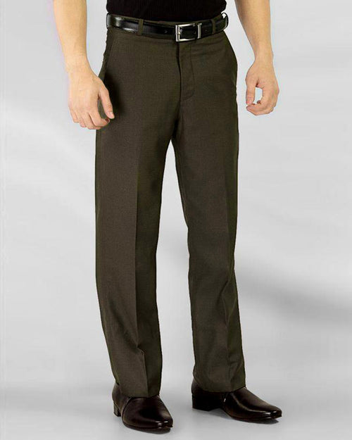 Mens Cotton Dress Pants - Dark Brown Cotton Formal Dress Pants