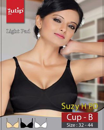 Suzy Bra - Tulip Bra - Soft Foam Bra - Double Padded Non Wired