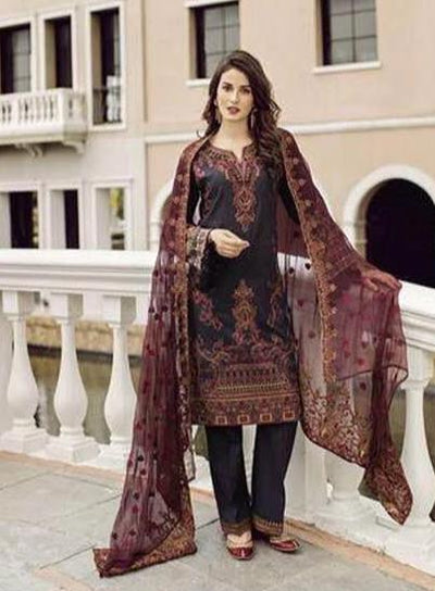 Iznik Collection Fabric Lawn Dupatta Chiffon Print Trouser Cotton - Replica - Unstitched