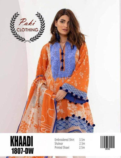 Khaadi Summer Collection 2019 Fabric Lawn With Lawn Dupatta - Replica - Unstitched