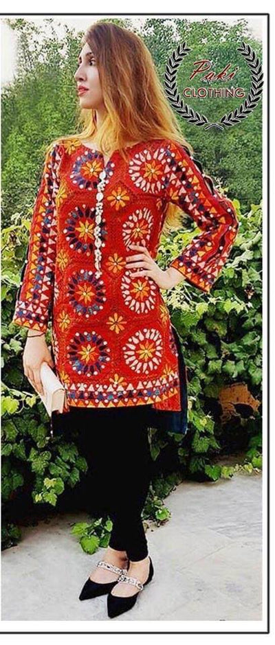 Ethnic 2pc Shirt & Trouser Collection Fabric Lawn - Replica - Unstitched