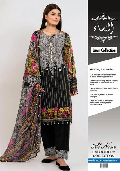Khaadi Collection Shirt Printed Lawn Dupatta Printed Chiffon - Replica - Unstitched