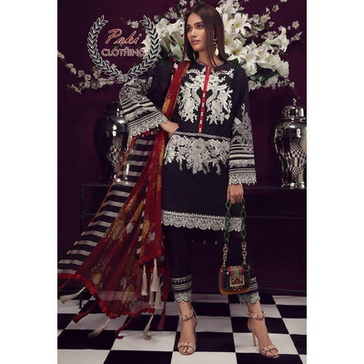 Sana Safinaz Summer Collection Fabric Lawn With Chiffon Dupatta - Replica - Unstitched