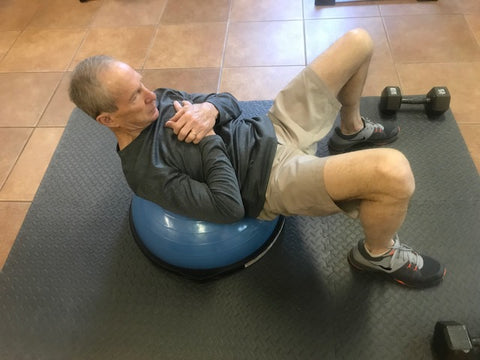 Crunches on Bosu Ball to Increase Core Strength for Golf Swing