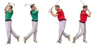 Right (Green) & Wrong (Red) Golf Swing Follow Through