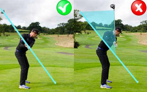 Comparing an inside-out golf swing to an outside-in swing