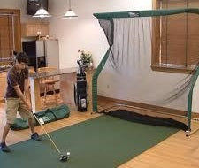 Indoor practice nets are a great way to take full swings during the winter months
