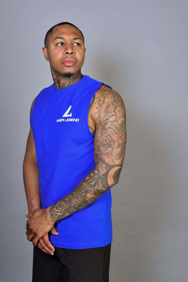 PERFORMANCE SLEEVELESS T-SHIRT - ROYAL BLUE