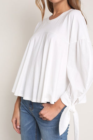 Marshmallow Puffy Sleeve Top