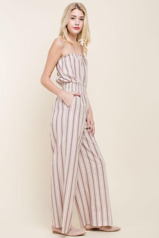 Breezy Striped Jumpsuit
