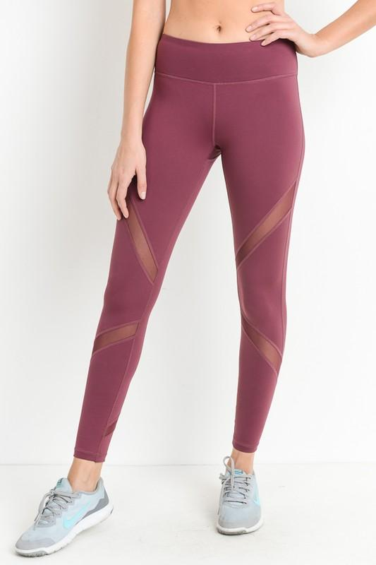 Cross Mesh Workout Leggings