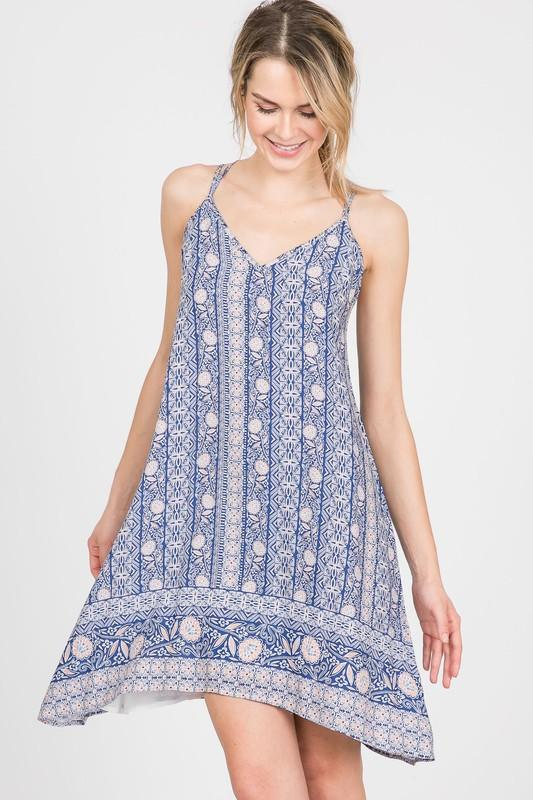 Dresses - Patchwork Boho Flowy Dress