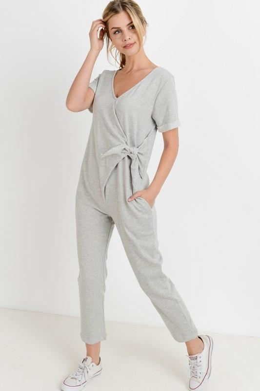 Everyday Terry Gray Jumpsuit