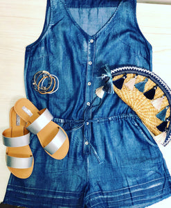 Summer Lovin' Denim Romper