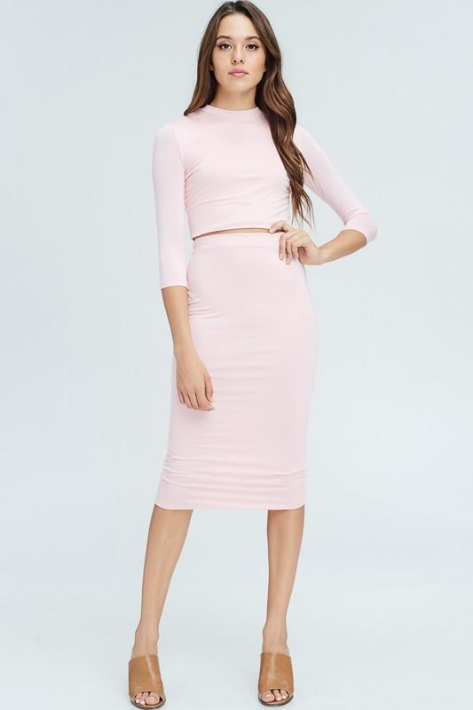 Pretty In Pink Skirt Set