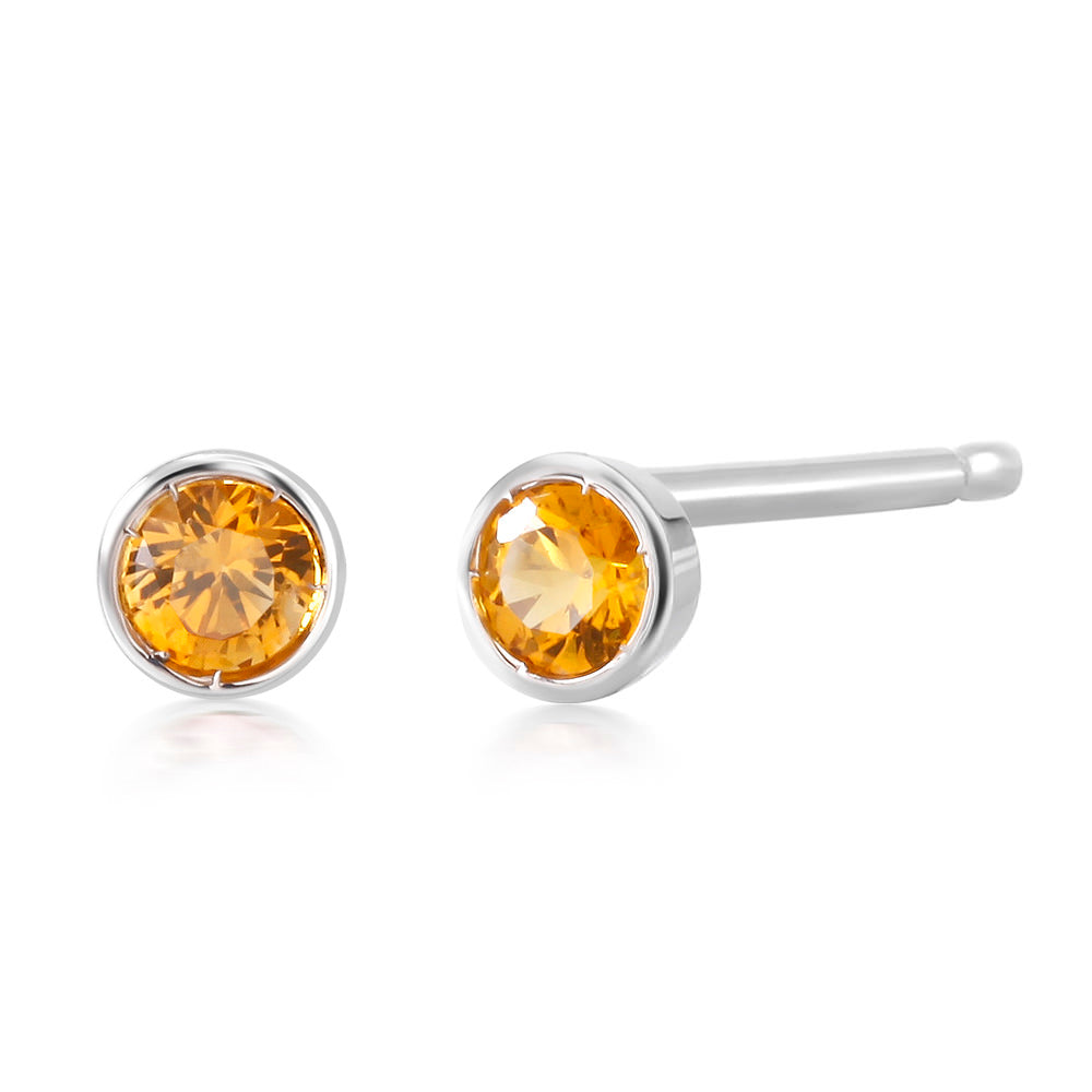 mm com in amazon petite gold dp yellow earrings sapphire round genuine stud jewelry