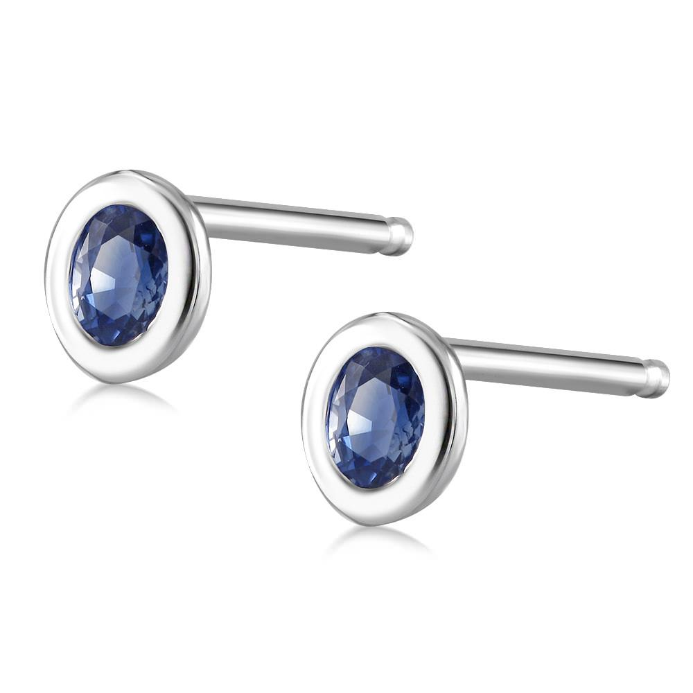 dsc products earrings yellow bezel gold stud set moissanite trillion