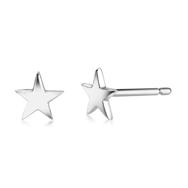 14k Gold Mini Star Stud Earrings - Chillatto