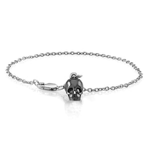 Bracelet with Skull Charm and Diamonds