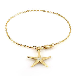 Bracelet with Diamond Star Shape Charmand  Lobster Claw Lock