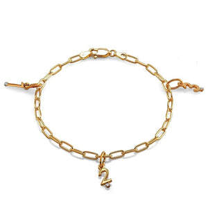 Charm Bracelet with Diamond Number Charms - Chillatto