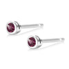 Half Pair  Ruby Bezel Stud Earring Weighing 0.05 Carat - Chillatto