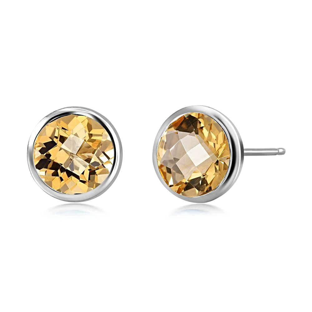 measuring products ssm earring four stud chillatto bezel stunning genuine carat topaz yellow a set