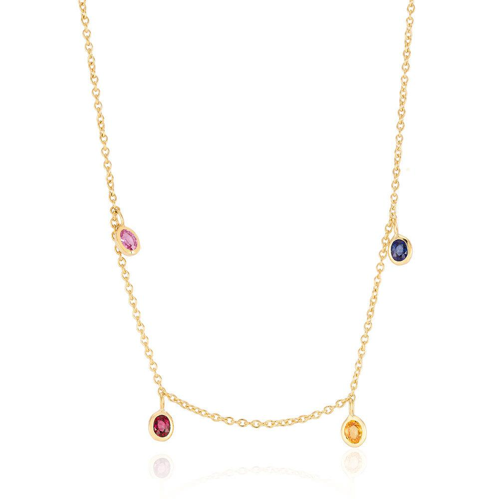 karen white diamond sapphire liberman mg necklace pendant product yellow