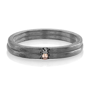 Blacken One Champagne Diamond Pave Set Ring - Chillatto