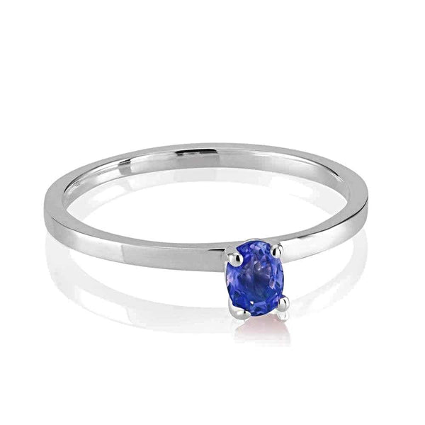 Cabochon Sapphire Solitaire Ring Weighing 0.35 Carat - Chillatto