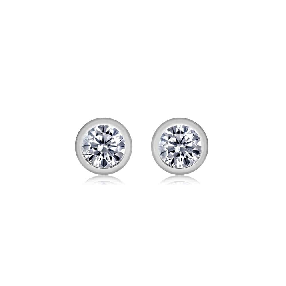 80bf019af Tiny Diamond Bezel Stud Earrings Weighing 0.05 Carat - Chillatto