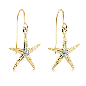 Diamond Star Charm Hoop earrings - Chillatto
