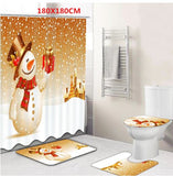 High Quality Christmas Theme Bathroom Shower Curtain