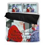 Santa Claus Gifts in Person Christmas Bedding Set
