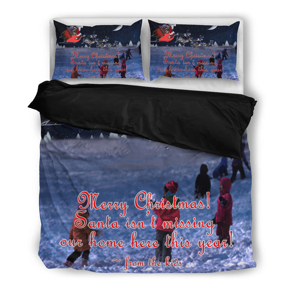 Santa Claus on Reindeer Christmas Bedding Set