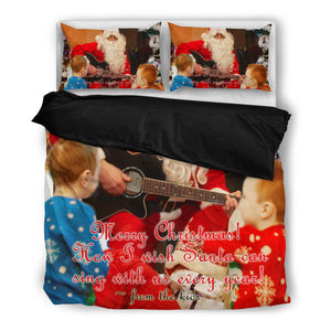 Santa Claus Sing for Kids Christmas Bedding Set