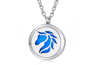 Beautiful Aromatherapy Vintage Horse Locket Necklace (Jewelry)