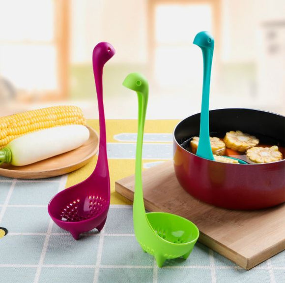 Loch Ness Monster Soup Spoon Strainer (Kitchen)