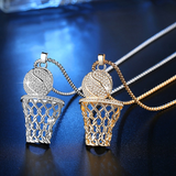 Iced Basketball Necklace (Sports)