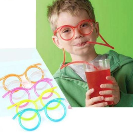 Funny Flexible Drinking Straw cum Glass for Party (Kitchen)