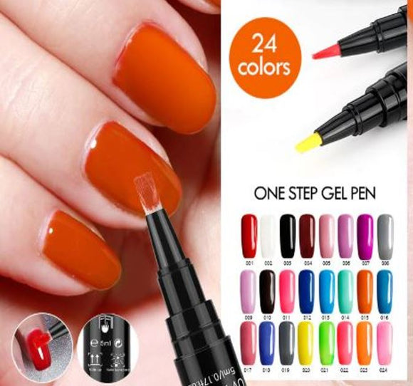 3 In 1 Gel Nail Polish Pen (Beauty)