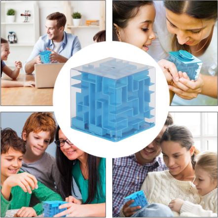 Money Labyrinth 3D Cube Puzzle Maze Bank Box (Toy)